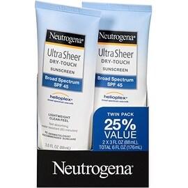 Neutrogena Ultra Sheer Dry-Touch Sunscreen, SPF 45, 3 oz ea, Value Pack