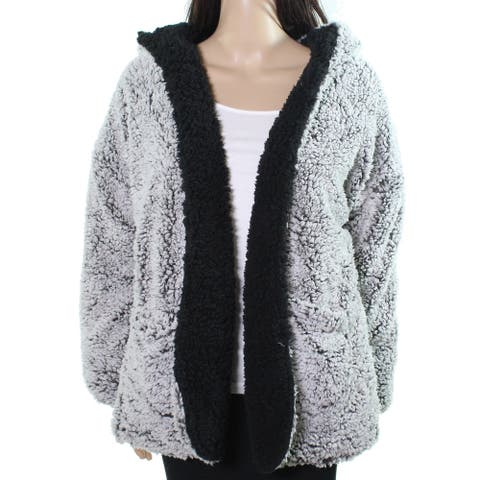 Thread & Supply Women's Fleece Jacket Gray Size Large L Reversible