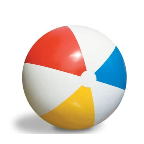 """30"""" Inflatable Vibrant Colored Water Sports Classic Beach Ball"""
