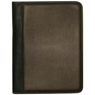 Buxton Genuine Leather Trim Padfolio - brown