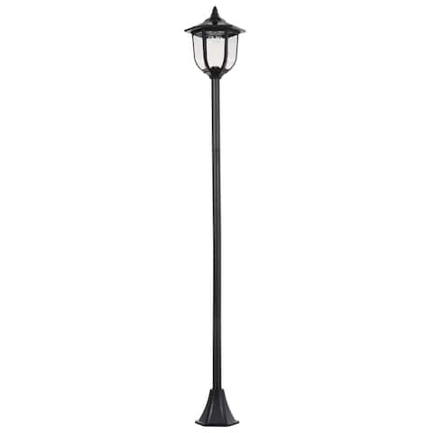 Outsunny Solar Torch Lights Outdoor Garden Lighting 6LED Water-Resist Auto On/Off 6-8 Hours - Black