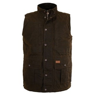 Outback Trading Vest Men Deer Hunting Oilskin Snap Pockets 2049