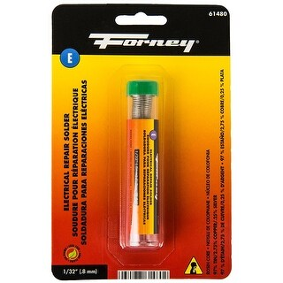 "Forney 61480 Lead Free Electrical Repair Rosin Core Solder, 1/32"", .30 Oz"