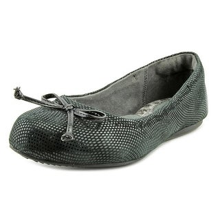 Softwalk Narina Women W Round Toe Leather Black Flats
