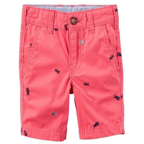Carter's Baby Boy's Schiffli Flat-Front Shorts , Bugs, 12 Months