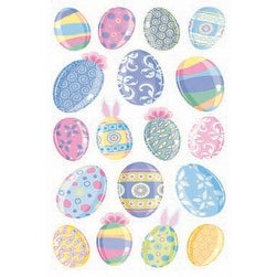 Sticko Stickers-Vellum & Glitter Multicolor Easter Eggs