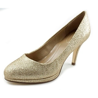 Style & Co Nikolet Women Round Toe Synthetic Gold Heels