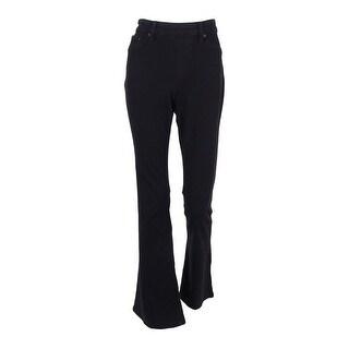 Style & Co. Women's Knit Flare Leg Jeans - black rinse