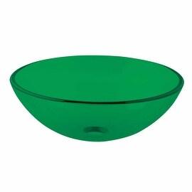 Green Glass Vessel Sink Drain In Discount Sale