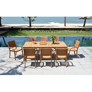 Link to Life Style Garden 9-piece Teak Patio Dining Set Similar Items in Patio Furniture