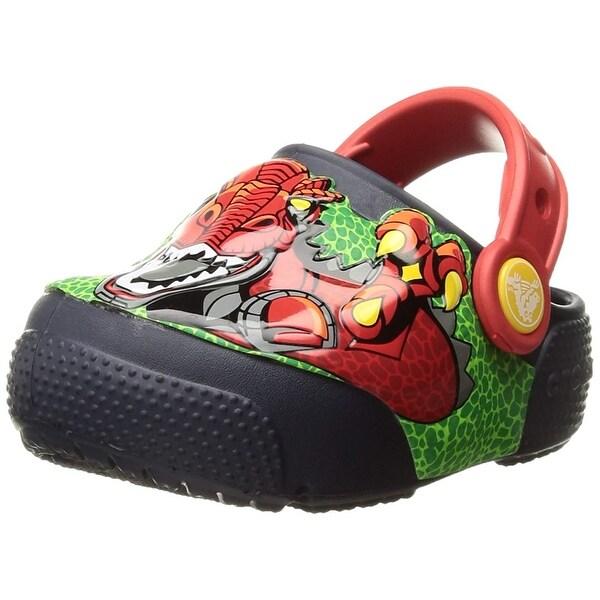 888d08ad70b3 Shop Crocs Kids  Fun Lab Light-up Boys Graphic Clog - Free Shipping ...