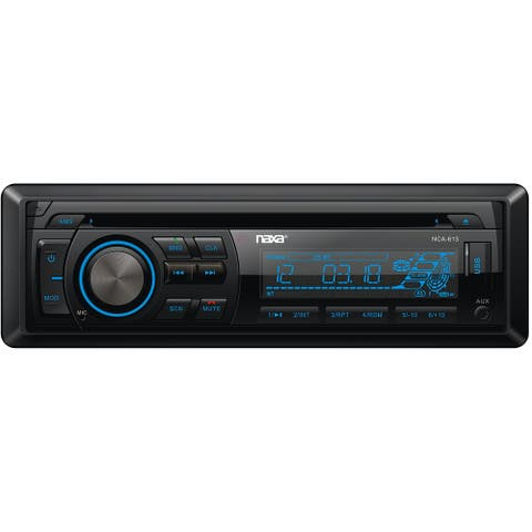 In-Dash MP3/CD Player and Receiver with Bluetooth and Detachable Faceplate