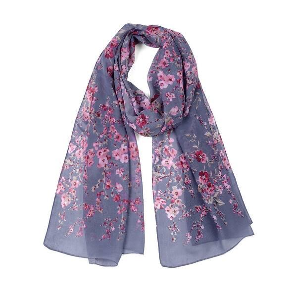 Large Floral Chiffon Long Thin Wrap Thin Scarf Ladies Print Shawl Beach Scarves