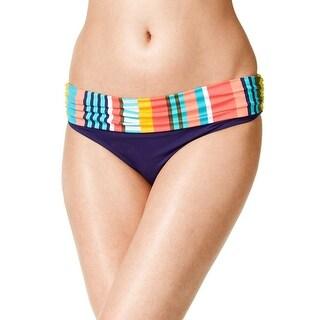 Anne Cole Womens Tropication Foldover Mid Rise Bikini Bottom, Multi, Large