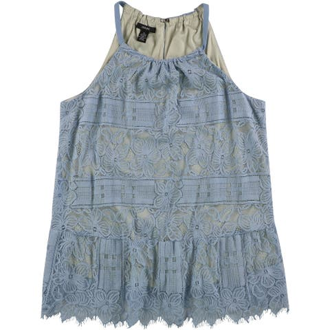 Alfani Womens Lace Halter Blouse