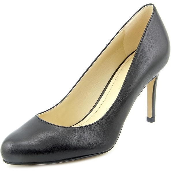 Marc Fisher Universe 2 Women Round Toe Leather Black Heels