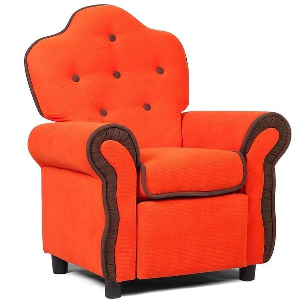 Black/Pink/Orange Living Room Kids Sofa-Orange