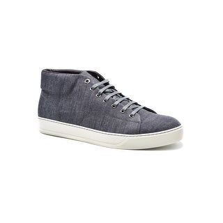 Lanvin Men's Blue Chambray Mid-Top Sneakers Size U.S. 13