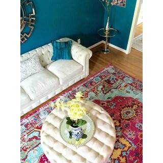 nuLOOM Distressed Abstract Vintage Oriental Multi Rug (7'10 x 11')