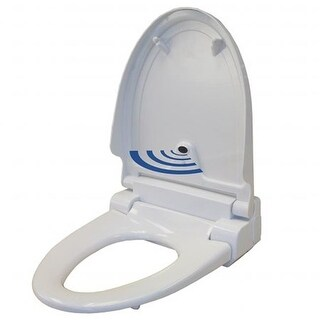 Touch-Free Sensor Control Automatic Toilet Seat - White Elongated