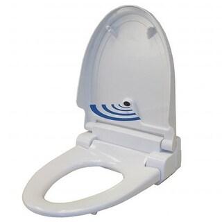 Touch-Free Sensor Control Automatic Toilet Seat - White Round
