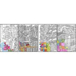 """Contemporary - Joy Of Coloring Adult Coloring Posters 11""""X17"""" 4/Pkg"""