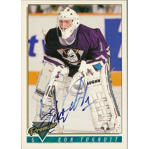 8e79422e5 Shop Signed Tugnutt Ron Anaheim Mighty Ducks 1994 Premier Hockey Card  autographed - Free Shipping On Orders Over  45 - Overstock.com - 17704848