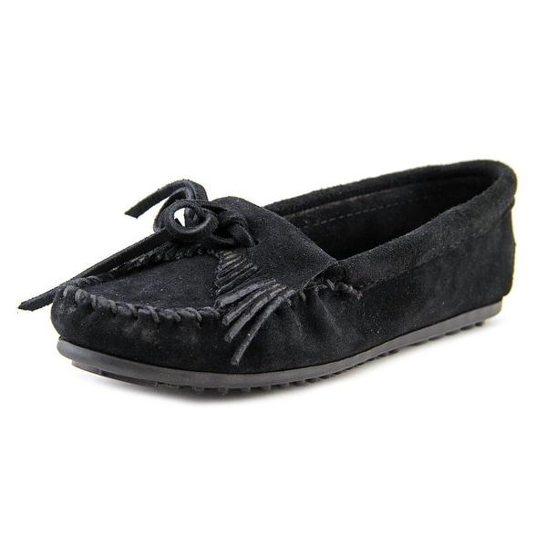 Minnetonka Kilty Women Black Flats