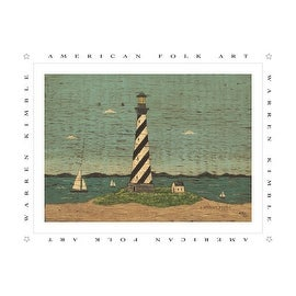 ''Lighthouse II'' by Warren Kimble Coastal Art Print (8 x 10 in.)