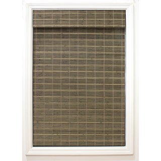 Link to Radiance Cordless Driftwood Bayshore Bamboo Roman Shade Similar Items in Wood Blinds