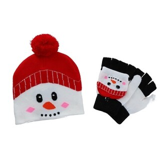 CTM® Kids' Winter Themed Hat and Convertible Glove Set
