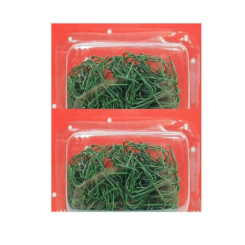 200 Count Green Ornament Hooks 1.5-2.5