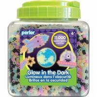 Perler 80-17015 Glow In The Dark Fused Beads, 11000 per Pack