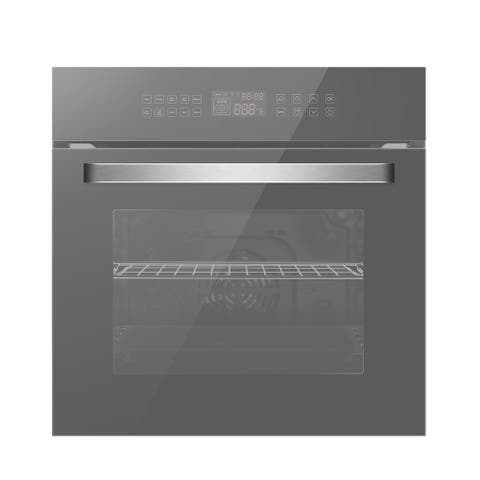 """24 in. Single Electric Wall Oven with Convection Fan in Silver Glass - 24"""""""