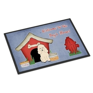 Carolines Treasures BB2824JMAT Dog House Collection Poodle White Indoor or Outdoor Mat 24 x 0.25 x 36 in.