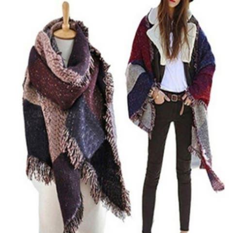 Women's Oversized Blanket Scarf