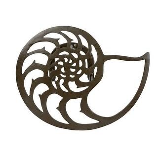 Dark Bronze Aluminum Nautilus Shell Hanging Hose Holder