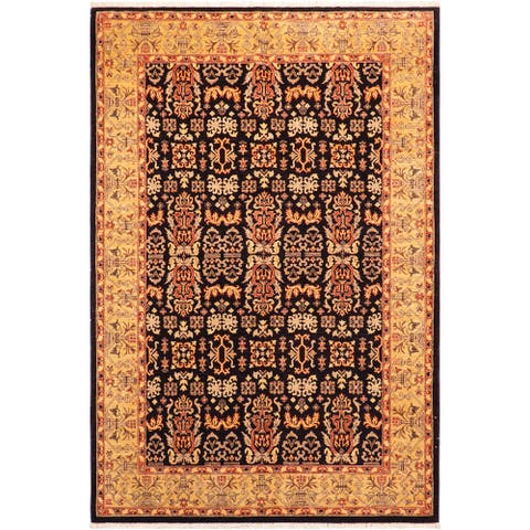 """Boho Chic Ziegler Eboni Hand Knotted Area Rug -6'2"""" x 8'11"""" - 6 ft. 2 in. X 8 ft. 11 in."""