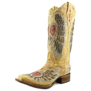 Corral A1990 Women Square Toe Leather Tan Western Boot