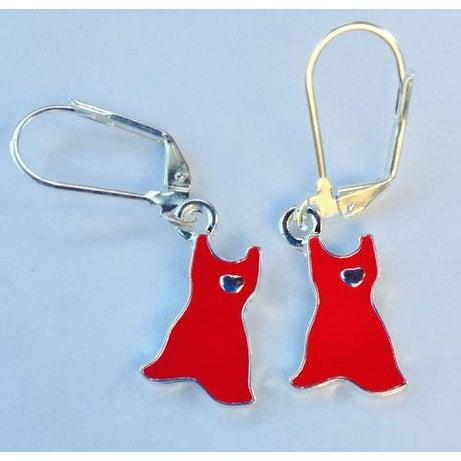 Heart Disease Awareness Red Dress Earrings