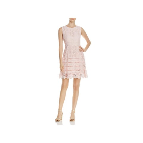 Cupcakes and Cashmere Womens Cocktail Dress Lace A-Line