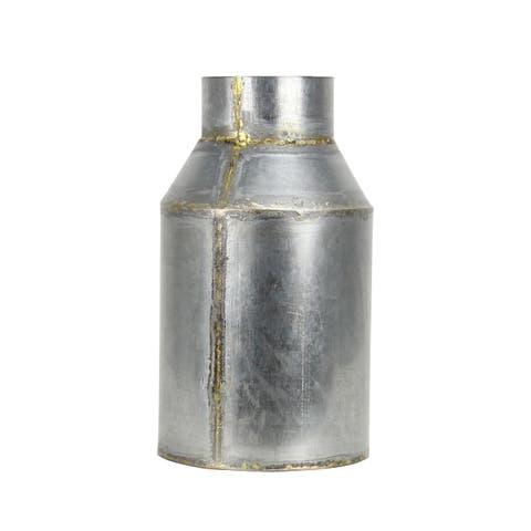 "Brewster FADX9071C Habitat Lars 10"" Tall Small Metal Vintage Milk Jug Vase"