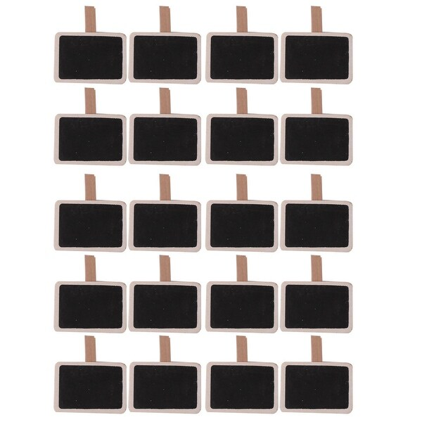 Home Wooden Rectangle Shape DIY Crafts Memo Card Photo Drawing Peg Clip 20pcs