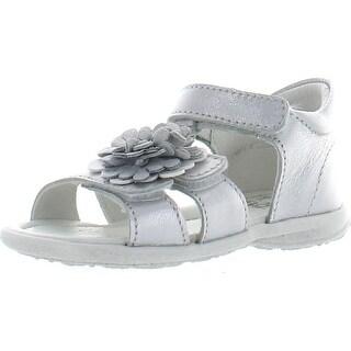 Primigi Girls Galenia Fully Adjustable Cute Sandals With Flower Ornament