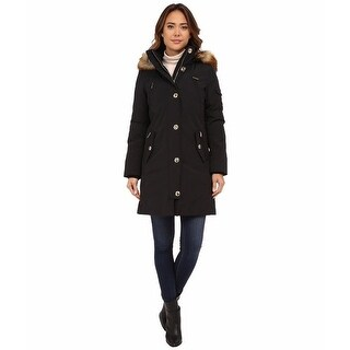 Michael Michael Kors Black Down Plus Size Parka 1X