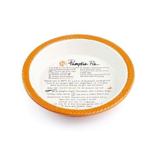 """Martha Stewart Collection Pumpkin Pie Plate - Orange - 10"""""""