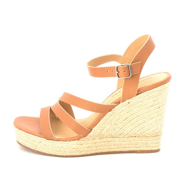 Lucky Brand Womens Latif Leather Open Toe Casual Ankle Strap Sandals