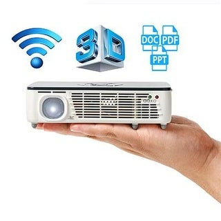 Aaxa P450 Pro 3D Led Pico/Micro Projector, Wifi, Movie Streaming, 500 Lumens, Wxga Hd Resolution, Android Os, Bluetooth