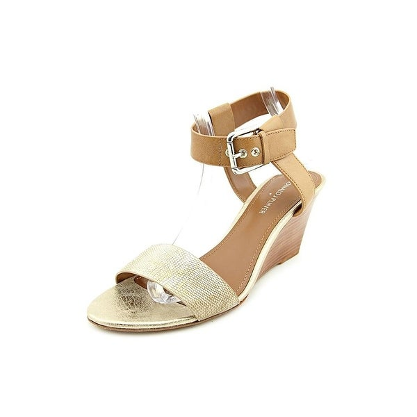 Donald J Pliner Paras Open Toe Leather Wedge Heel
