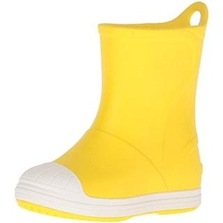 Crocs Boys Bump It Big Kid Man Made Rain Boots - 3 medium (d)